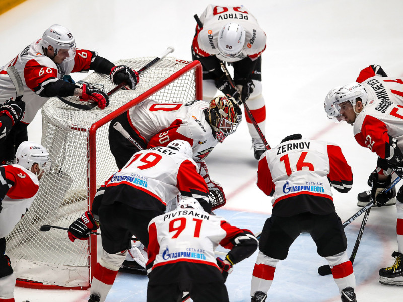 "Omskas ""Avangard"" hokejisti"