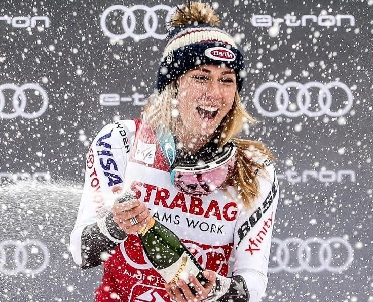 Mikaēla Šifrina veikusi jaunu ierakstu kalnu slēpošanas vēsturē, kā pirmā sezonas laikā uzvarot 15 Pasaules kausa izcīņas sacensībās.
