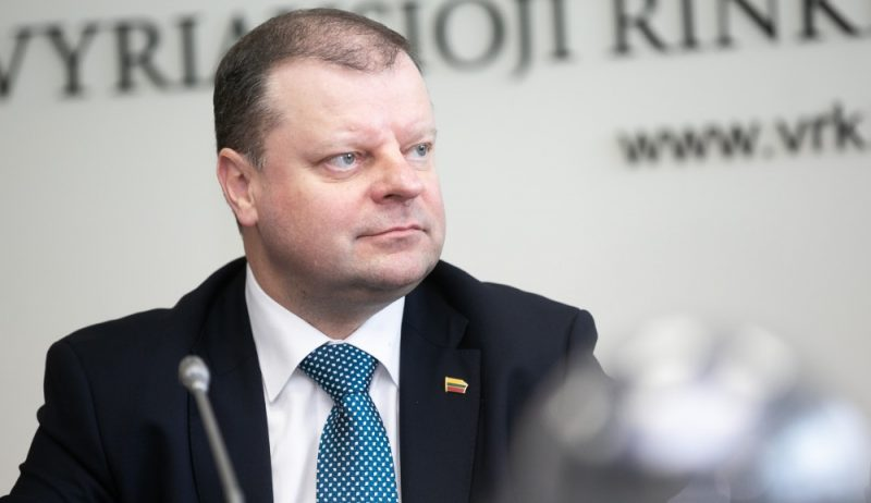Lietuvas premjers Sauļus Skvernelis.