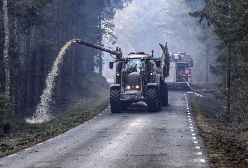 Arī Zviedrijā šonedēļ deg meži sausuma dēļ, 25.04.2019.