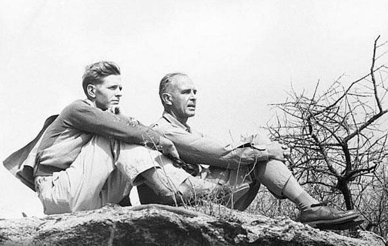Bernhards Gržimeks (1909–1987) ar dēlu Mihaelu.
