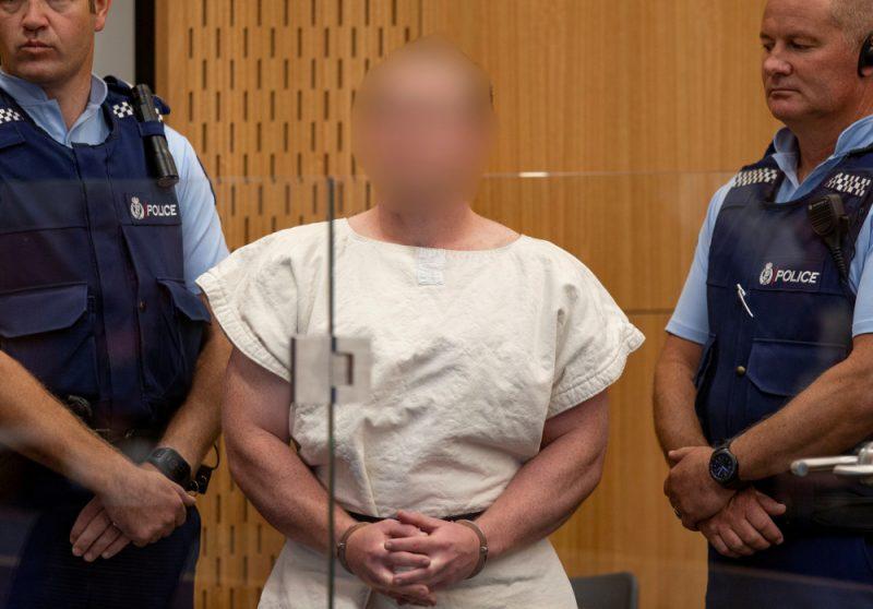Austrālijas pilsonis Brentons Tarants tiesā Jaunzēlandē.