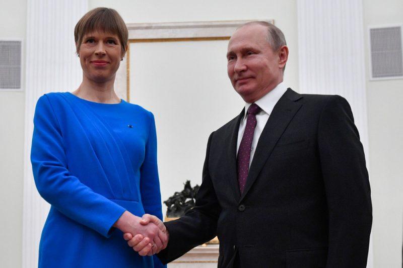 Kersti Kaljulaida Kremlī ar Vladimiru Putinu tikās 2019. gada 18. aprīlī.