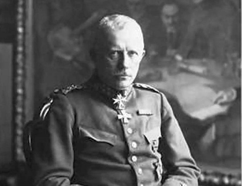 """Ģenerālis Rīdigers fon der Golcs pēc Vācijas kapitulācijas Pirmajā pasaules karā uzskatīja sevi par """"pēdējo vācu ģenerāli""""."""
