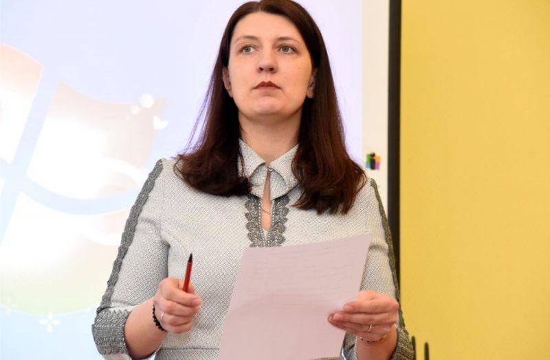 Latvijas Izglītības un zinātnes darbinieku arodbiedrības priekšsēdētāja Inga Vanaga.