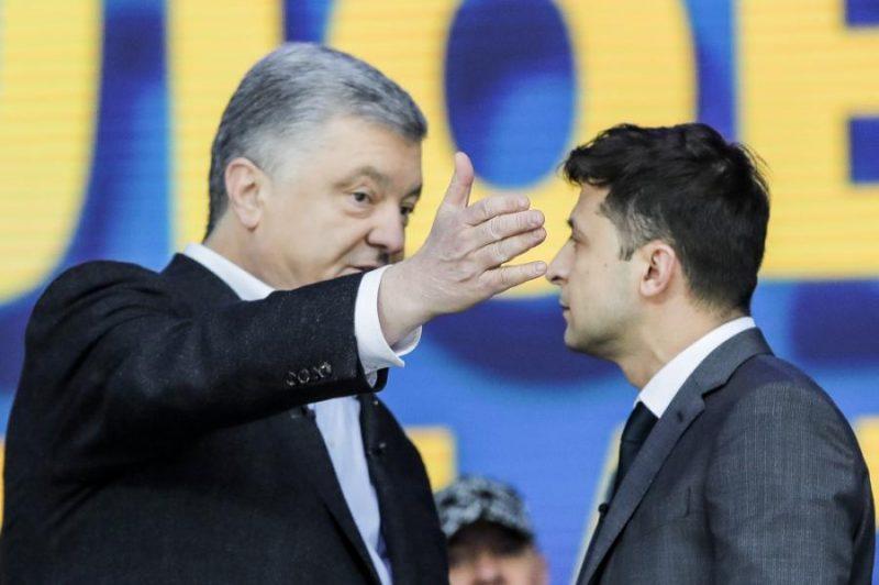 Noslēgušās debates starp abiem kandidātiem, kas piektdien tika sarīkotas Kijevas Olimpiskajā stadionā