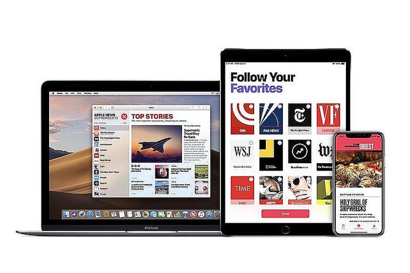 """""""Apple News+"""" digitālais žurnālu abonēšanas serviss."""