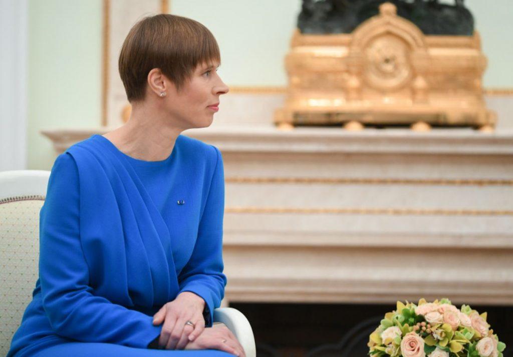 Kersti Kaljulaida vizītē Maskavā, tiekoties ar Krievijas prezidentu Vladimiru Putinu.