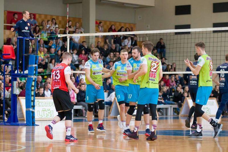 Jēkabpils volejbolisti izcīnījuši otro Latvijas čempionu titulu