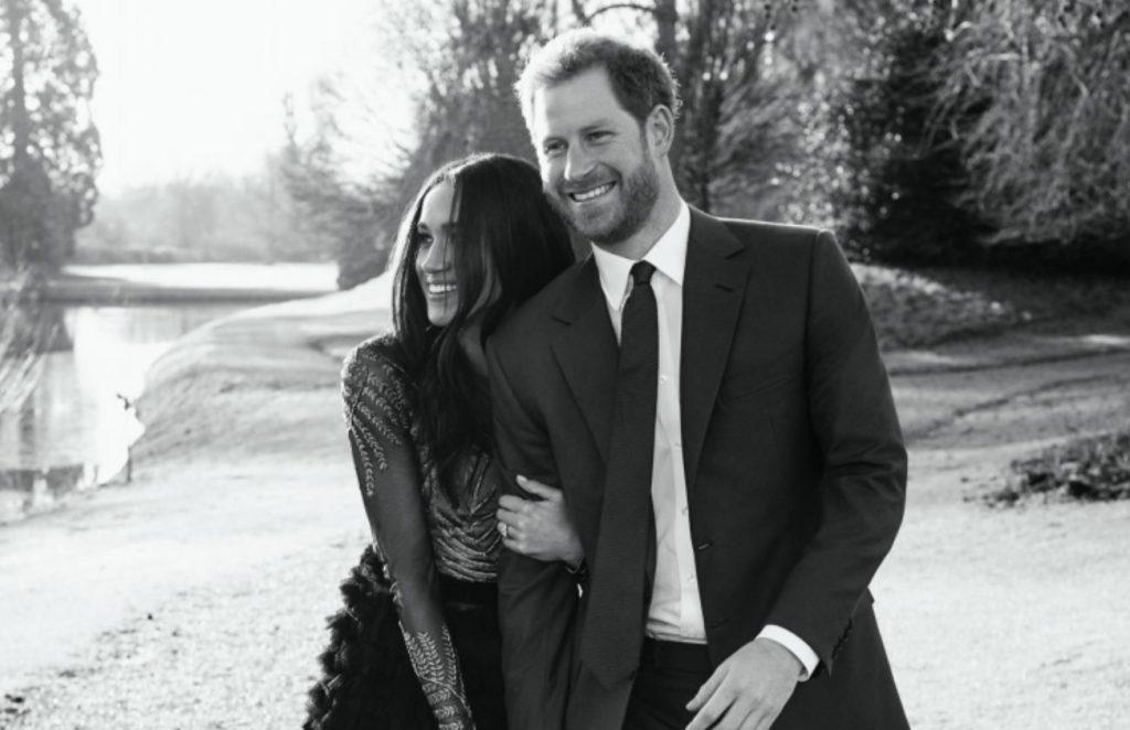 Megana un princis Harijs Frogmoras nama dārzā.