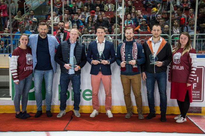 Latvijas hokeja čempionāta šīs sezonas labākie spēlētāji.