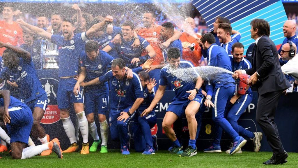 """FA kausa 2018.gada ieguvēji Londonas """"Chelsea""""."""
