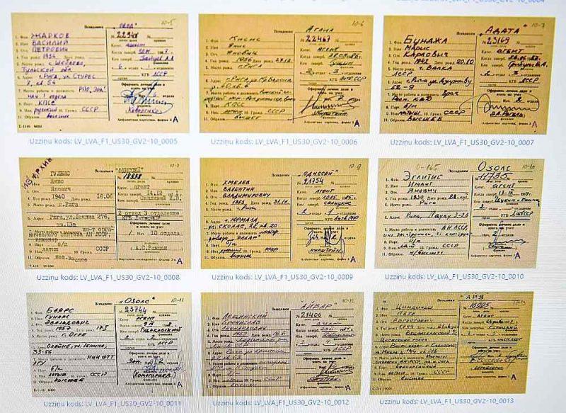 """Aizvadītā gada beigās vietnē """"kgb.arhivi. lv"""" tika publicētas čekas aģentu uzskaites kartītes. Drīzumā, pēc 1. maija, šajā pašā vietnē varēs iepazīties arī ar citu VDK darbību ilustrējošo dokumentu pirmpublicējumiem."""