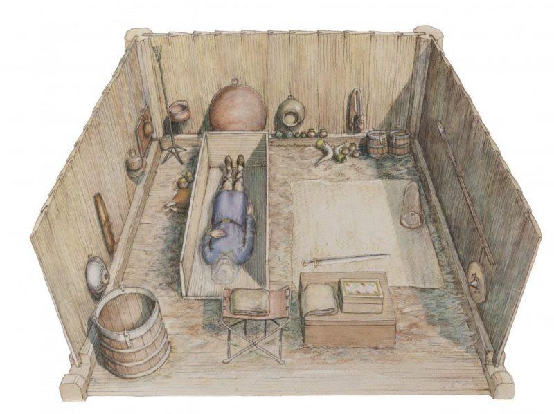 """Pritlevelā uzietais anglosakšu augstmaņa apbedījums internetā ieguvis apzīmējumu """"Lielbritānijas atbilde Tutanhamona kapenēm""""."""