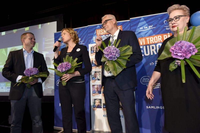 Eiropas Parlamenta (EP) vēlēšanās Somijā visvairāk balsu saņēmusi konservatīvā Nacionālā koalīcijas partija
