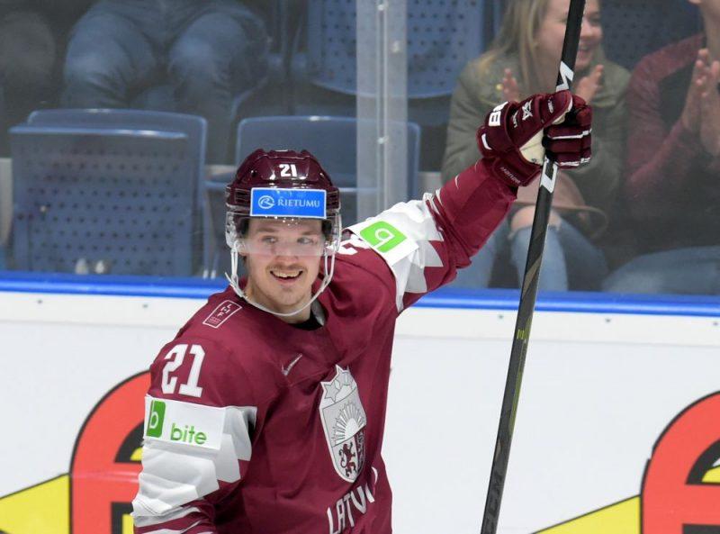 Rūdolfs Balcers bija rezultatīvākais spēlētājs Latvijas izlasē šī gada pasaules čempionātā.