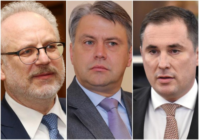 Egils Levits, Juris Jansons un Didzis Šmits.