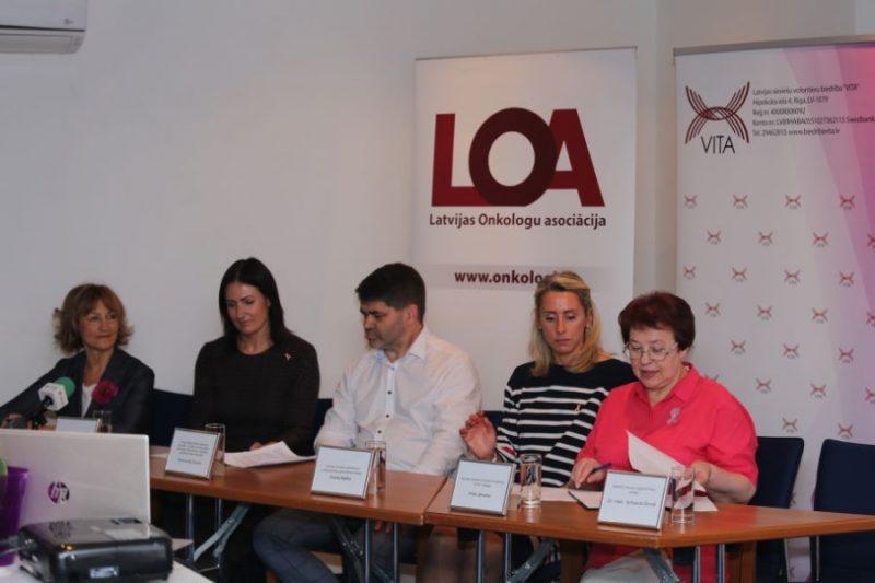 """Kampaņu """"Pārbaudi krūtis, lai dzīvotu!"""" jau devīto gadu organizē Latvijas Basketbola savienība un Latvijas sieviešu volontieru biedrība """"VITA""""."""