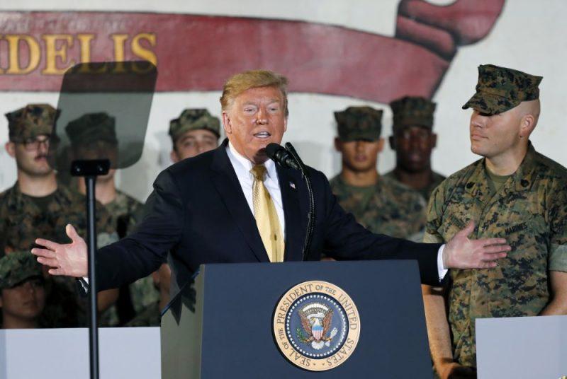 ASV prezidents Donalds Tramps paudis cerību, ka Japānas armija pastiprinās Savienoto Valstu bruņotos spēkus Āzijā un citviet.