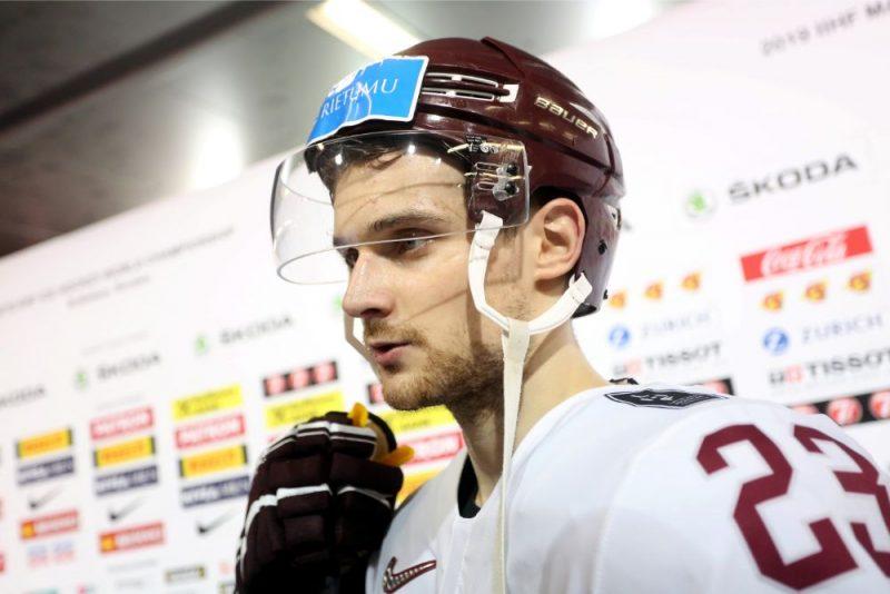 Teodors Bļugers pēc čempionāta pēdējās spēles.