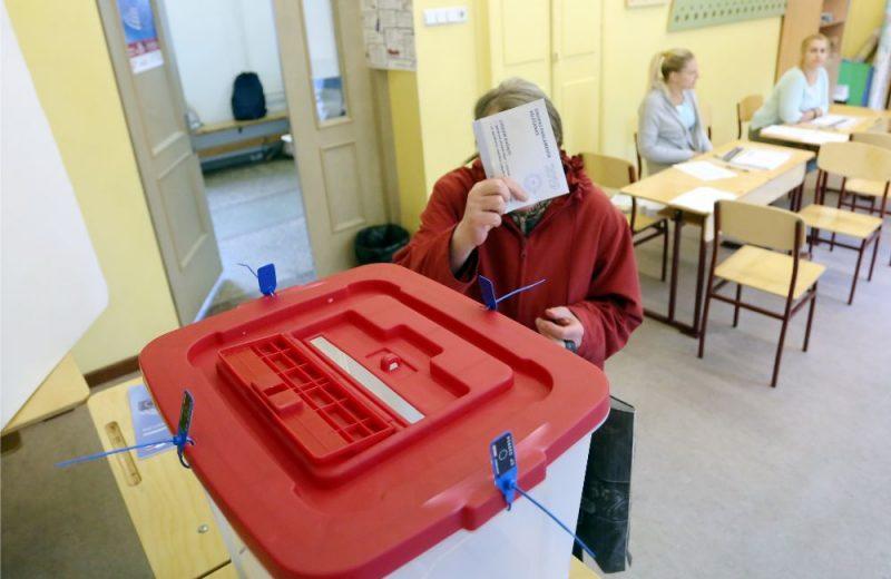Eiropas Parlamenta vēlēšanu 79. iecirknis Rīgas 49.vidusskolā.