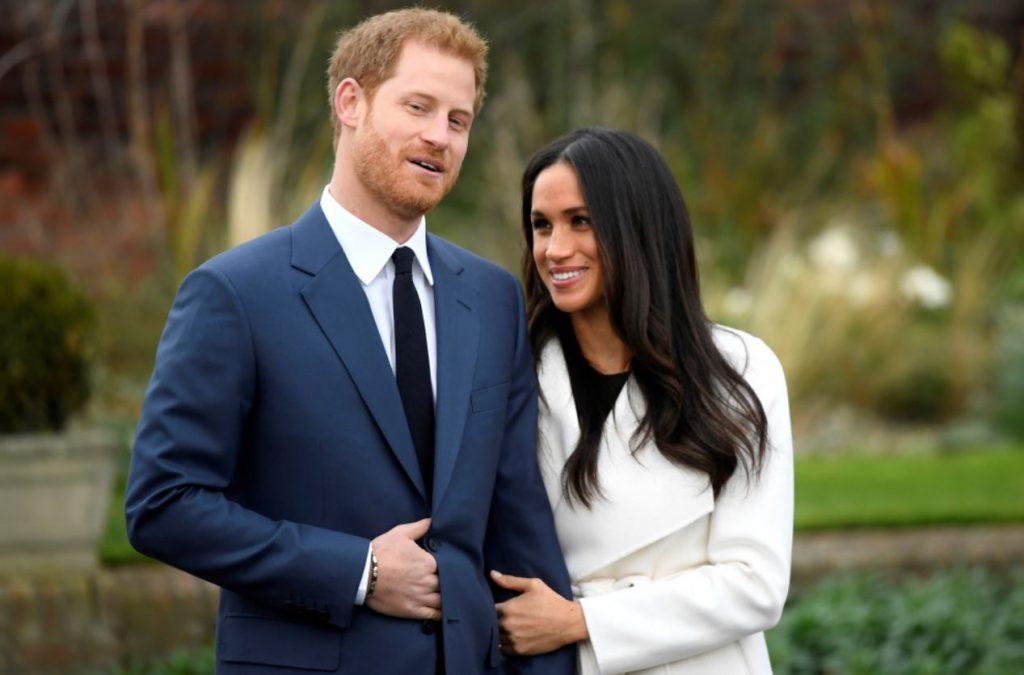 Megana kopā ar princi Hariju 2017.gadā novembrī.