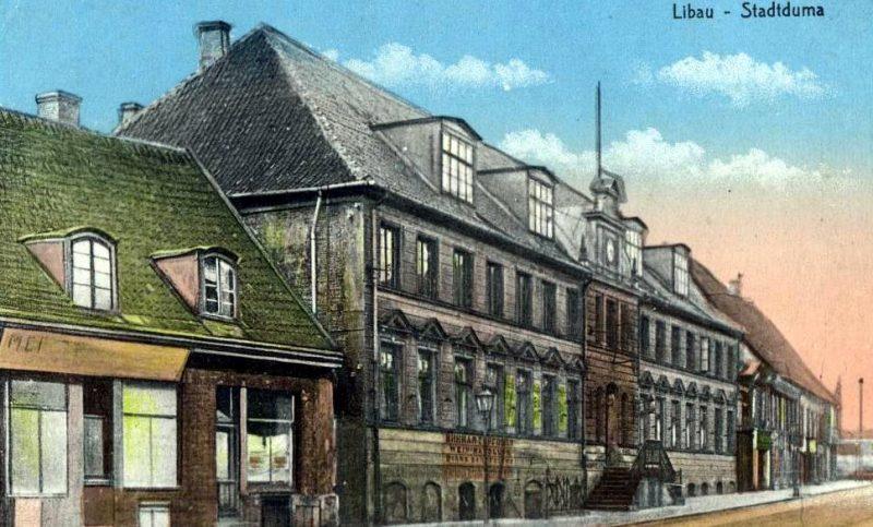 Liepājas pilsētas valdes nams 20. gs. sākumā.