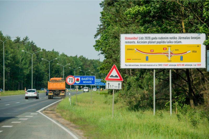 Informē par satiksmes organizāciju uz Jūrmalas šosejas no 13. jūnija
