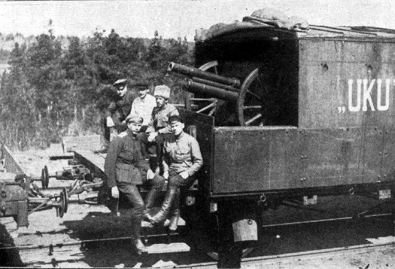 Igaunijas armijas bruņotais vilciens Cēsu kaujās.