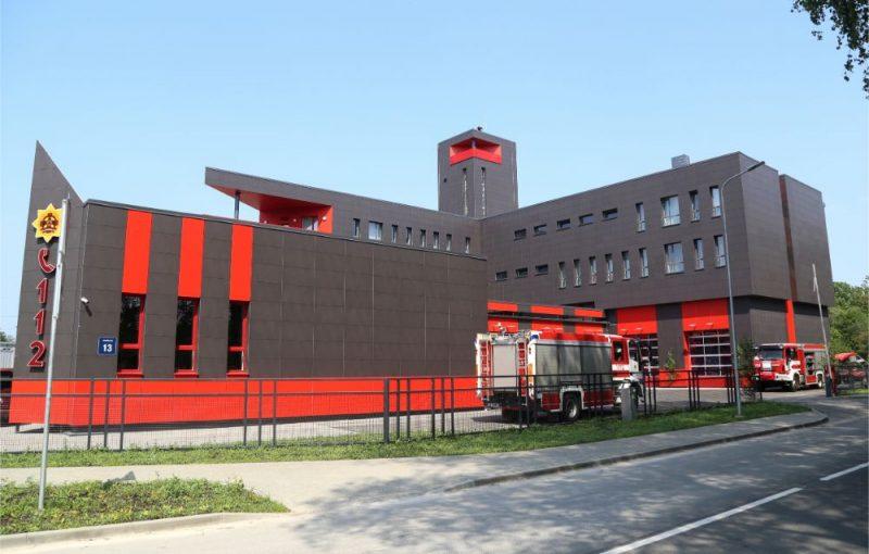 Valsts ugunsdzēsības un glābšanas dienesta Rīgas reģiona pārvaldes 2.daļas jaunā depo telpas Jaunpils ielā, 12.06.2019.