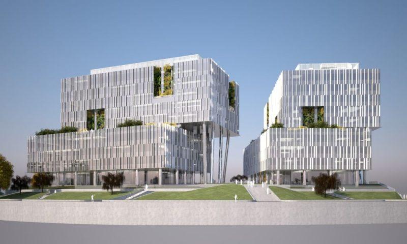 """Lietuviešu ieguldījumu pārvaldības sabiedrība """"Capitalica Asset Management"""" sāk divu A klases darījumu centru """"Verde"""" celtniecību Skanstes apkaimē Rīgā."""