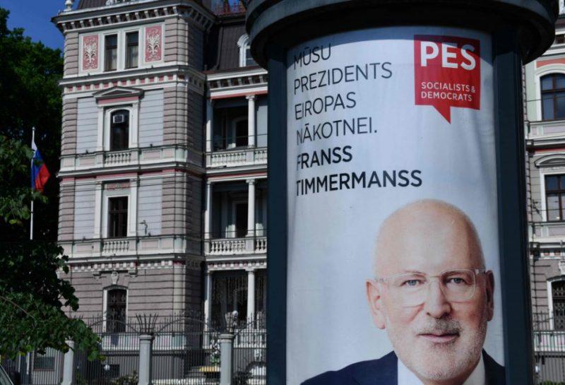 """""""Saskaņas"""" plakāts uz EP vēlēšanām."""