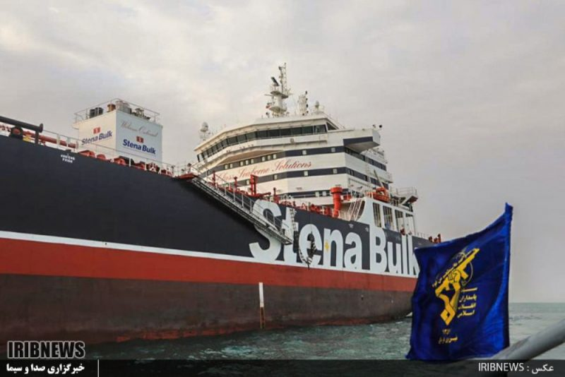 """Irānas varasiestādes 19.jūlijā Hormuza jūras šaurumā ir aizturējušas kuģi """"Stena Impero"""", kam ir Lielbritānijas karogs, un uz kura ir arī viens Latvijas valstspiederīgais."""