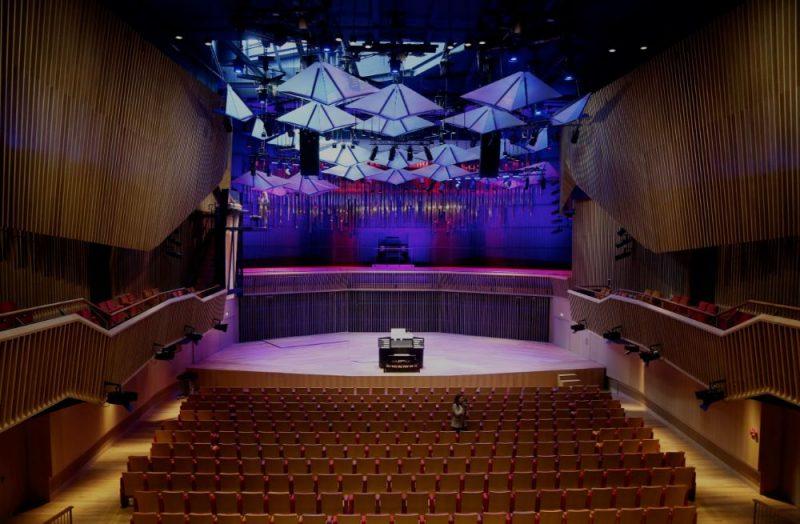 """Jaunā koncertzāle """"Latvija"""" Ventspilī, kurā darbosies koncertzāle """"Latvija"""", Ventspils mūzikas vidusskola, Bērnu mūzikas skola, Mūzikas bibliotēka un skaņu ierakstu studija."""