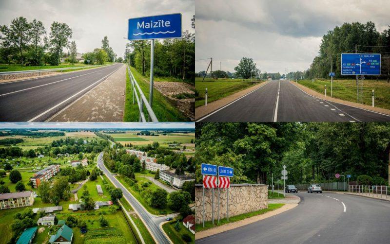 Ir pabeigti būvdarbi uz autoceļa Augšlīgatne–Skrīveri (P32) posmā no krustojuma ar autoceļu Tīnūži–Koknese (P80) līdz Skrīveriem