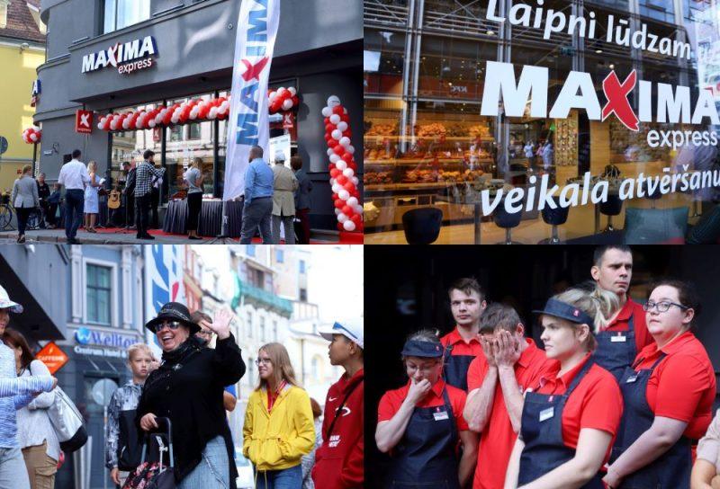 """Vecrīgā atklāj """"Maxima Express"""" veikalu."""