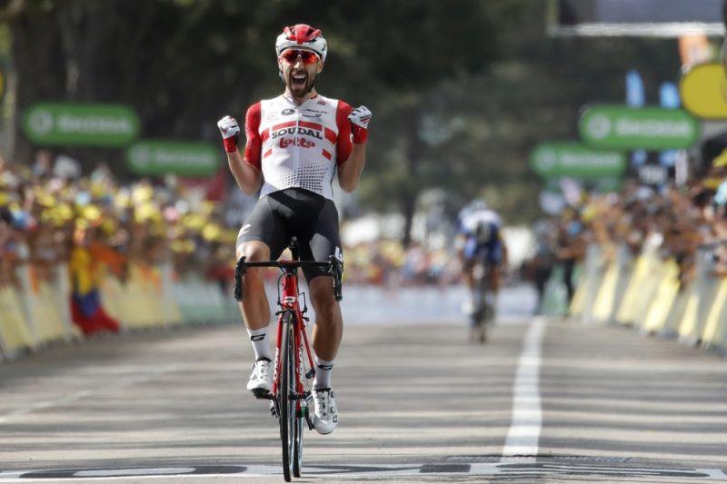 """""""Tour de France"""" astotajā posmā uzvaru izcīnīja beļģietis Tomā de Gents no """"Lotto Soudal"""" vienības."""