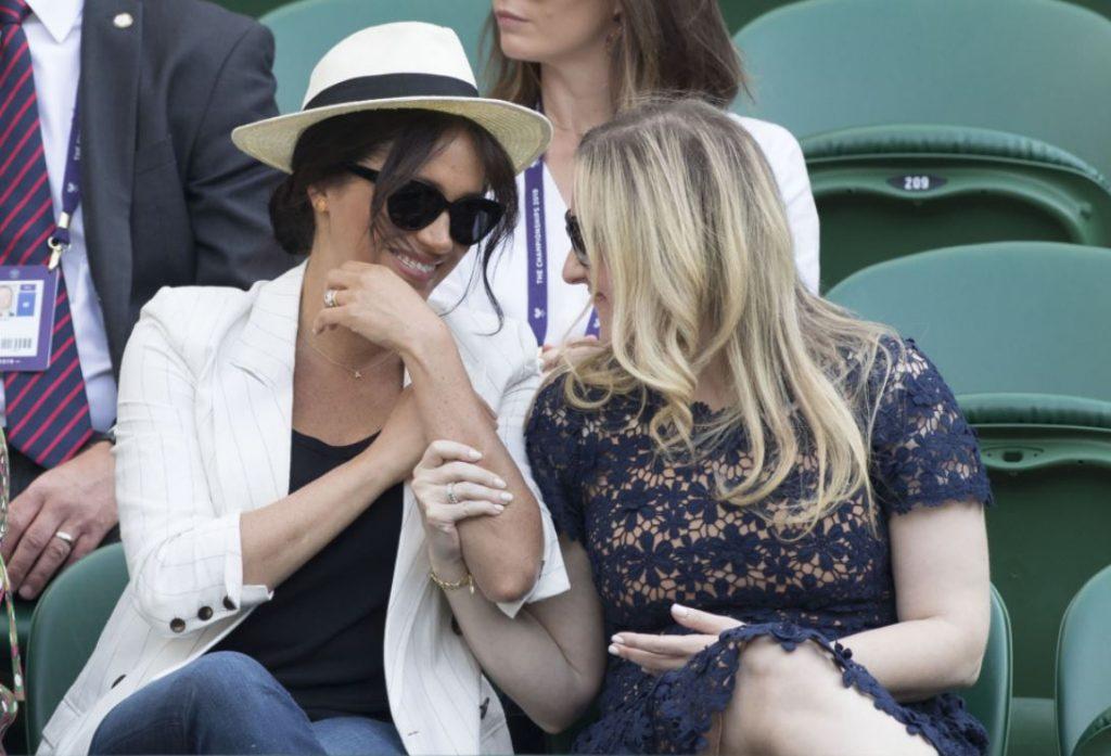 Megana Mārkla apmeklēja Vimbldonas tenisa turnīru.
