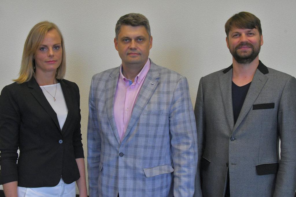 Margarita Meļņikova, Aivars Kraps un Renārs Putniņš.