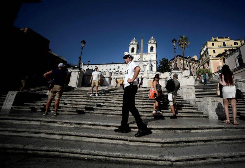 No marmora veidotās Spāņu kāpnes ir viens no Romas arhitektūras brīnumiem.