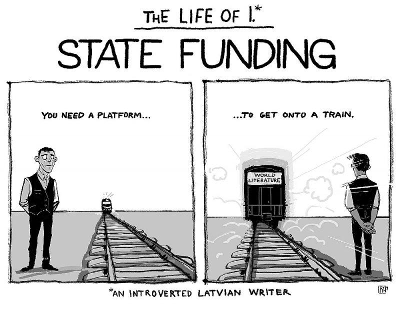 Valsts finansējums literatūras eksportam pielīdzināms dzelzceļa stacijas platformai – bez tās pasaules tulkojumu vilcienā netikt.