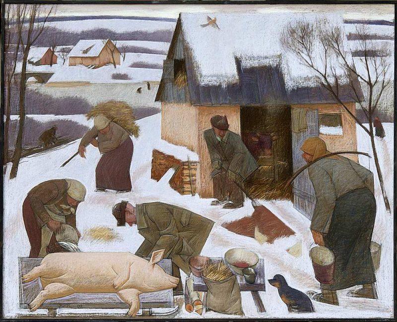 """Edvīns Kalnenieks. """"Atmiņas par lauku mājām"""". 2002."""