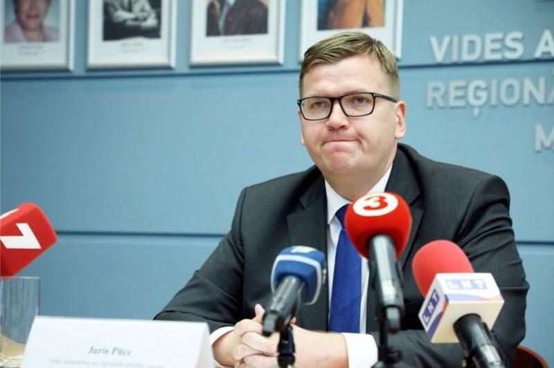 Vides aizsardzības un reģionālās attīstības ministrs Juris Pūce mediju brokastīs informē par 200 dienās ministra amatā paveikto.