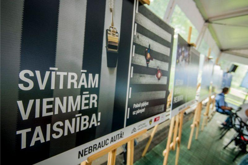 """Latvijas valsts ceļi sāk kampaņu """" Nebrauc autā"""""""