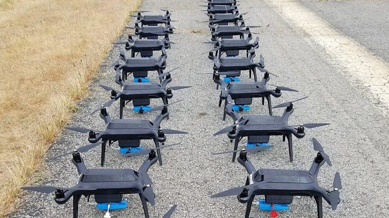 """""""Rajant Corporation"""" lauku darbiem paredzētie droni."""
