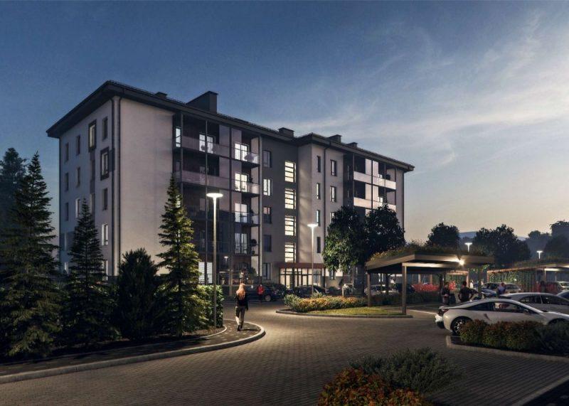 """Ekspluatācijā nodots daudzdzīvokļu namu projekts Purvciemā """"Hausmaņa terases""""."""