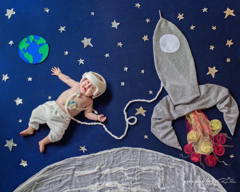 Parādīt, ka ikviens bērniņš ir skaists, mīlēts, saredzēt vēstījumu, ko viņš šai pasaulei nes, – tāds ir Andželas vēstījums caur šiem mākslas darbiem.