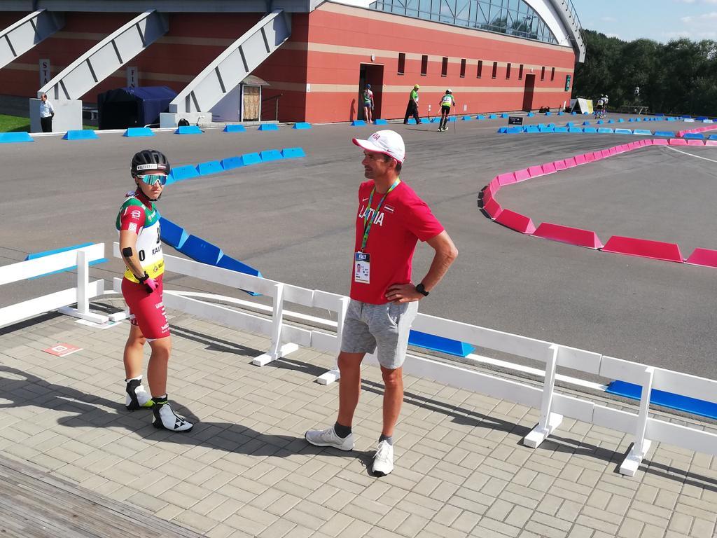 Baiba Bendika un viņas treneris Ilmārs Bricis cītīgi gatavojas gaidāmajai sezonai.