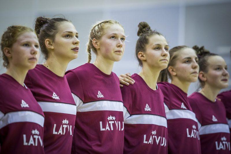 Latvijas U-20 basketbola izlases spēlētājas.