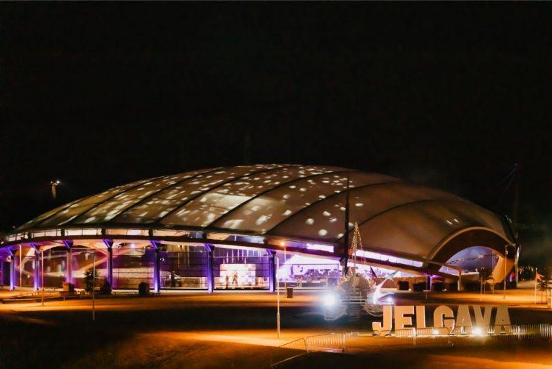 """Jelgavas brīvdabas koncertzāles """"Mītava"""" atklāšana."""
